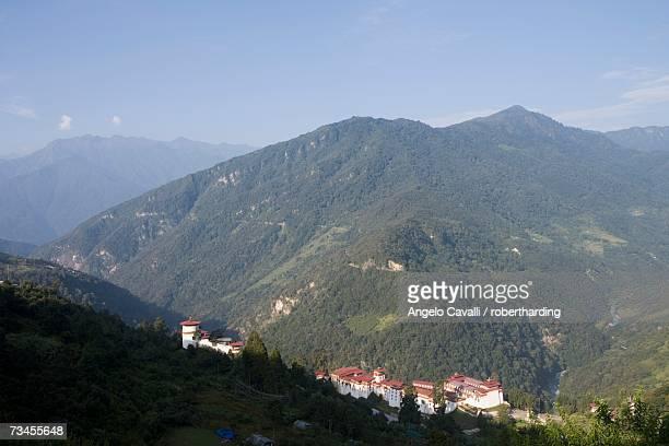 trongsa dzong, trongsa, bhutan, himalayas, asia - trongsa district stockfoto's en -beelden