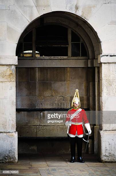 Trooper at Horse Guards in Whitehall, central London