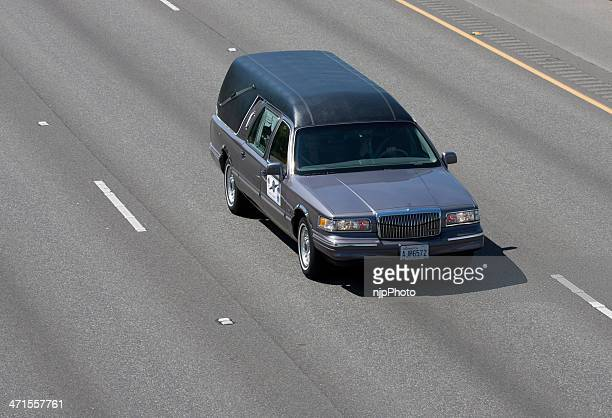 trooper o'connell's hearse in motorcade 6-6-13 - hearse stock pictures, royalty-free photos & images