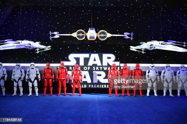 """Troopers arrive for the World Premiere of """"Star Wars: The Rise of Skywalker"""", the highly anticipated conclusion of the Skywalker saga on December 16,..."""