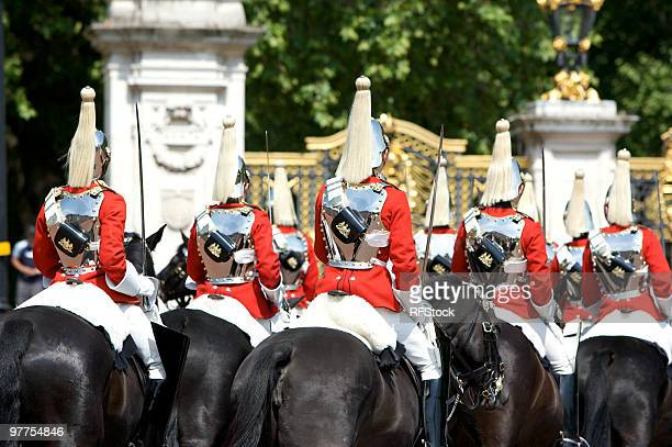 trooping the colour, buckingham palace - guardsman stock pictures, royalty-free photos & images
