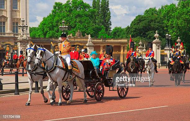trooping the colour - british royalty stock pictures, royalty-free photos & images
