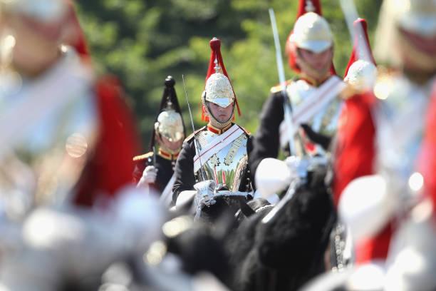 Trooping The Colour Queen Elizabeth II celebrates her