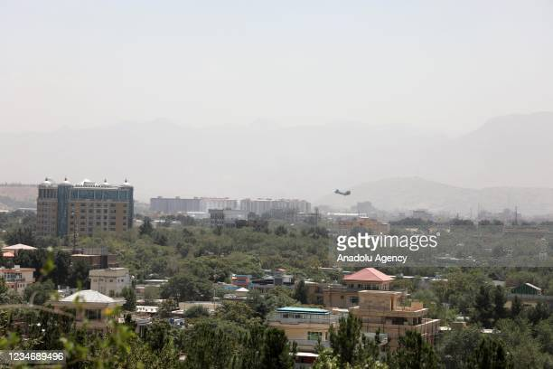 Troops arrive in Kabul, Afghanistan to evacuate embassy staff on August 15, 2021.