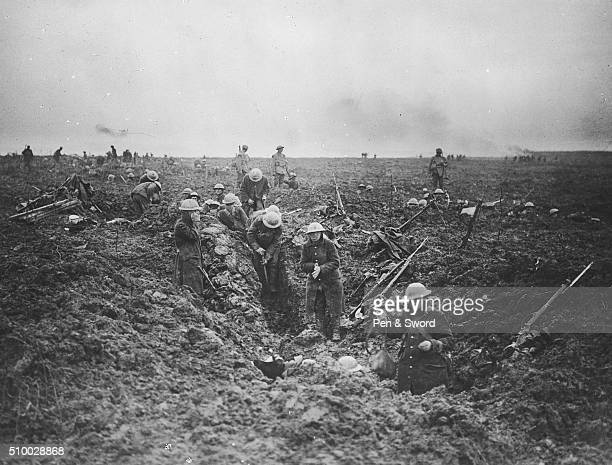 Troops digging trenches in Arras France