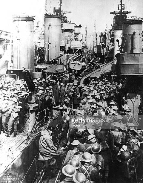Troops evacuated in Dunkirk getting back to Great Britain June 1940 France World War II Washington National archives