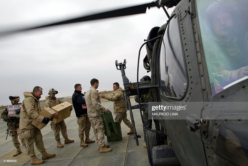 U.S. troops from 2nd Squad, 14th Cavalry : News Photo