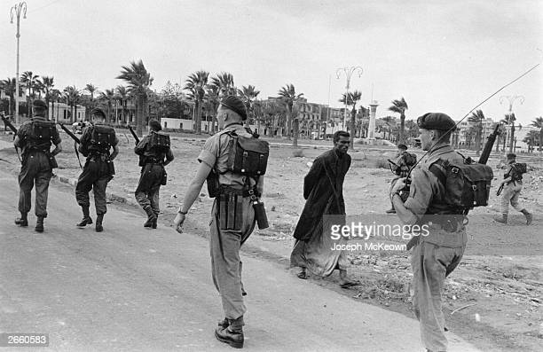 Troops in the Canal Zone at Port Said during the Suez conflict Original Publication Picture Post 8735 Death Wore A Galabiya pub 1956