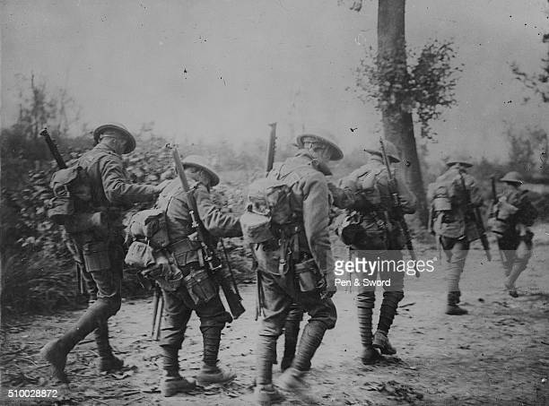 Troops marching through Arras France