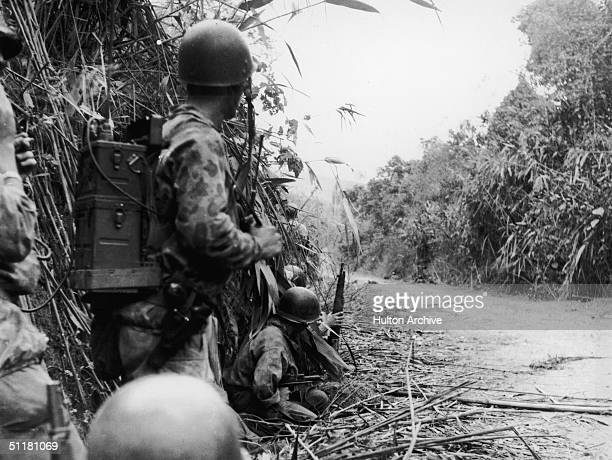 Troops of the 1st B.E.P. In action near the RC-6 road in Indochina , January 1952.