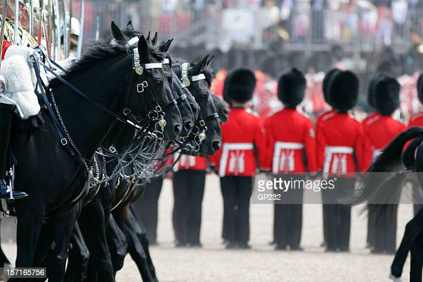 troops of the colors parade celebrating queen's birthday - royalty stock pictures, royalty-free photos & images