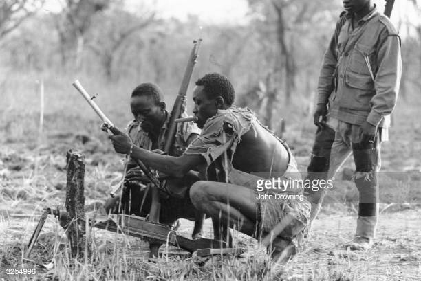 Troops of the Venom Army fighting Arab troops of the Sudanese Gou during the war in southern Sudan.