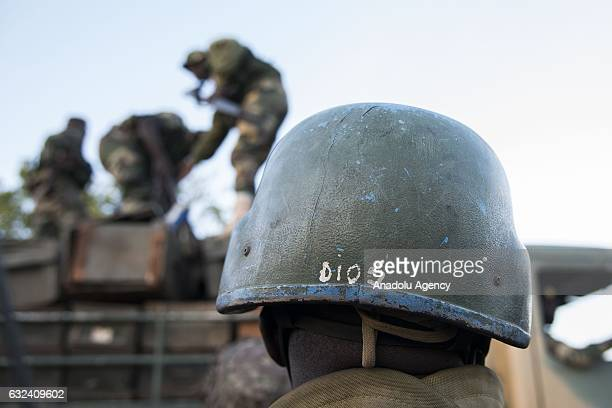 Troops patrol in the streets after the former President Yahya Jammeh fled the country, in Banjul, Gambia on January 22, 2017. Yahya Jammeh left...
