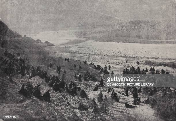Troops stopping on the River Brenta Italy World War I from l'Illustrazione Italiana Year XLV No 3 January 20 1918