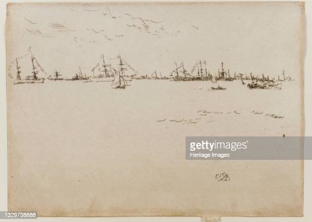 Troopships, 1887. Artist James Abbott McNeill Whistler.