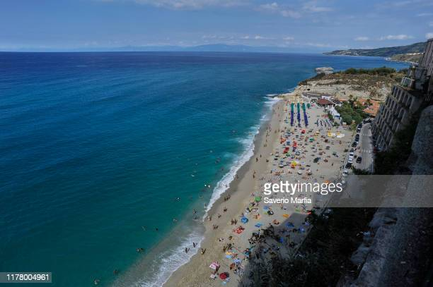 Tropea , Calabria on September 09, 2019 in Tropea, Italy. Tropea is a small town on the east coast of Calabria, in southern Italy.