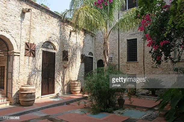tropea, italy courtyard - calabria stock pictures, royalty-free photos & images
