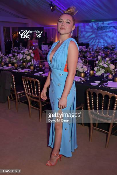 Trophee Chopard Laureate Florence Pugh attends the official Trophee Chopard dinner as part of the 72nd Cannes International Film Festival at Agora on...