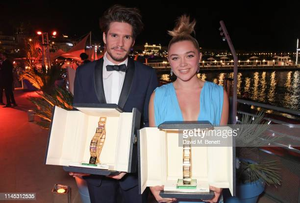 Trophee Chopard Laureates Francois Civil and Florence Pugh attend the official Trophee Chopard dinner as part of the 72nd Cannes International Film...