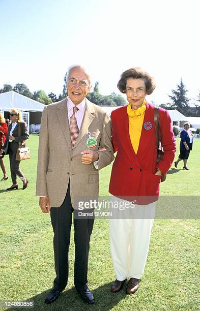 Trophee Lancome in France on September 20 1993 Andre and Liliane Bettencourt