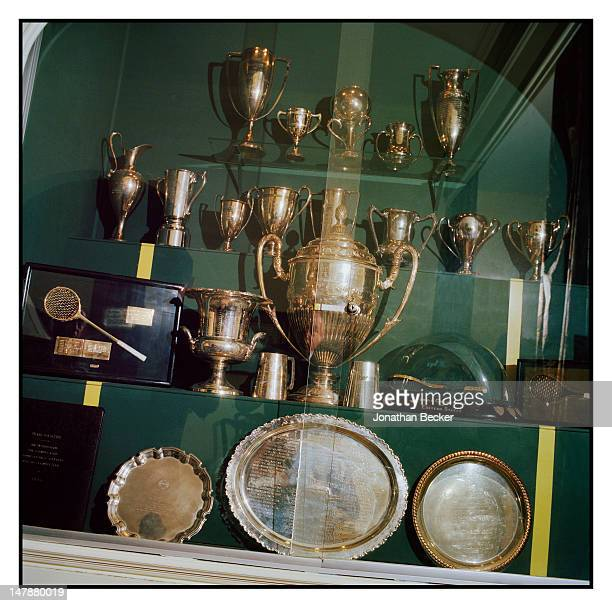 Trophies from the club are photographed for Town & Country Magazine on September 8, 2011 in Tuxedo Park, New York. PUBLISHED IMAGE.