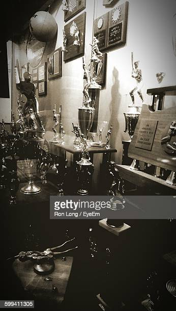 Trophies On Display At Store
