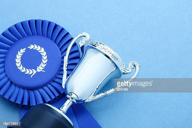 Trophy and Blue Ribbon