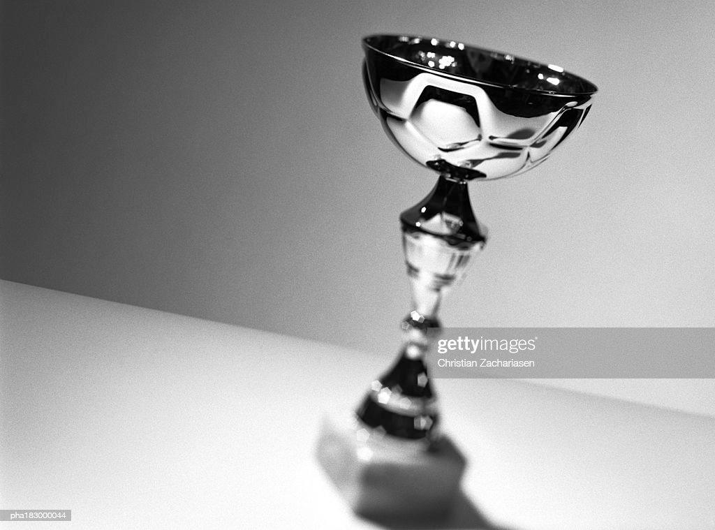 Trophy, close-up, b&w : Stockfoto