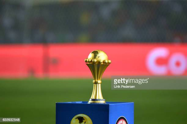 Trophy during the African Nations Cup Final match between Cameroon and Egypt at Stade de L'Amitie on February 5 2017 in Libreville Gabon
