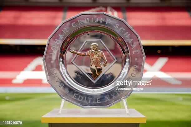 Trophy during the Dutch Johan Cruijff Schaal match between Ajax v PSV at the Johan Cruijff Arena on July 27 2019 in Amsterdam Netherlands