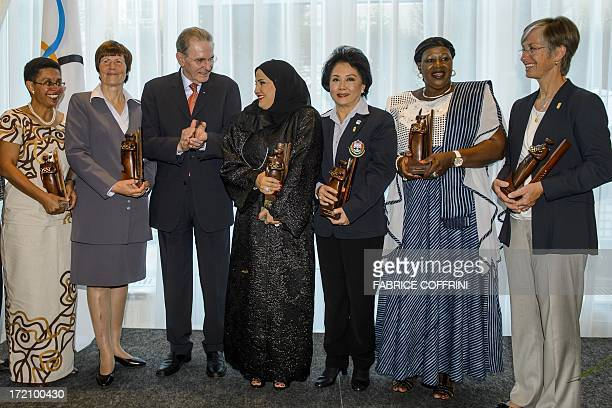 IOC Trophy for Oceania Catherine Alice Wong of Fiji IOC Trophy for Europe Ona Baboniene of Lithuania International Olympic Committee President...