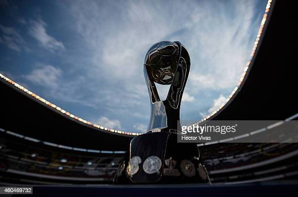 Trophy for the Liga MX champion prior a Final second leg match between America and Tigres UANL as part of the Apertura 2014 Liga MX at Azteca Stadium...