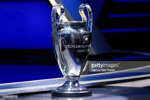 Trophy of Champion's League during the 2018/2019 UEFA Champions League draw on August 30 2018 in Monaco Monaco