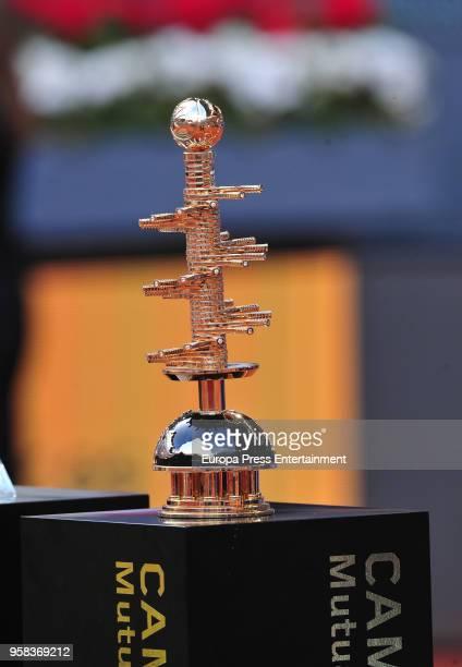 Trophy of Mutua Madrid Open tennis tournament at the Caja Magica on May 13 2018 in Madrid Spain