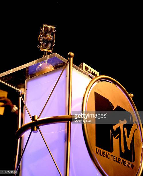 Trophy podium at the MTV Africa Music Awards with Zain at the Moi International Sports Centre on October 10 2009 in Nairobi Kenya
