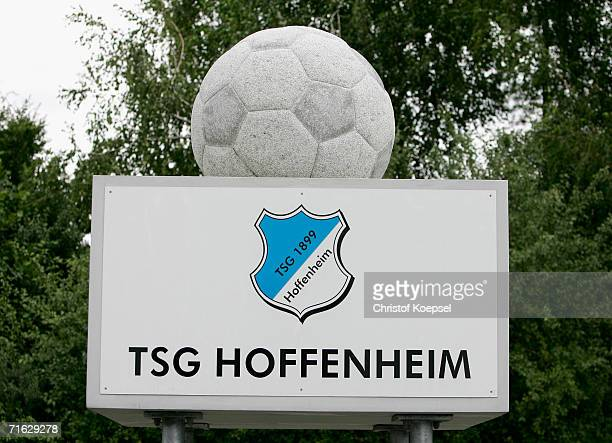 Trophy stand in front of the training center of TSG Hoffenheim during the TSG Hoffenheim report on August 10, 2006 in Hoffenheim near Heilbronn,...