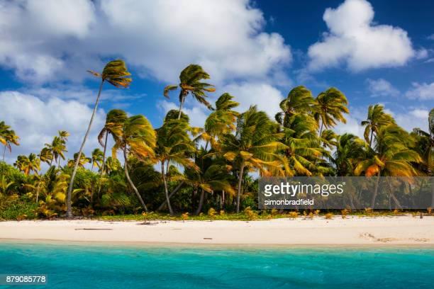 Tropische Aitutaki Lagune auf den Cook Inseln