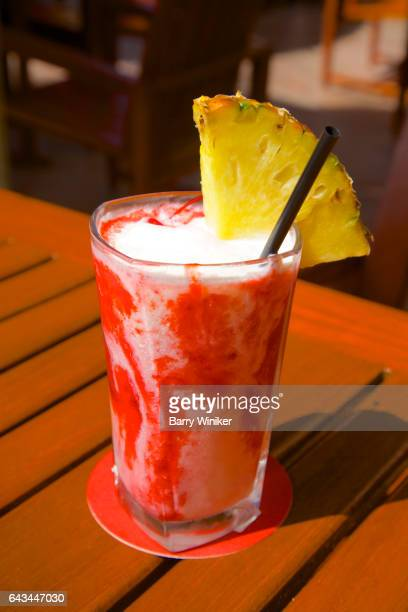tropical alcohol-free cocktail - pureed stock photos and pictures