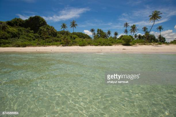 Tropical beach and turquoise sea,Chumphon Thailand
