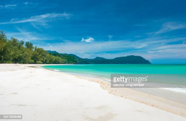 tropical beach andaman sea at tarutao national park island in thailand - national landmark stock pictures, royalty-free photos & images