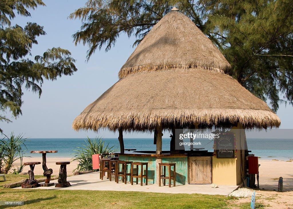 Tropical Beach Bar Stock Photo