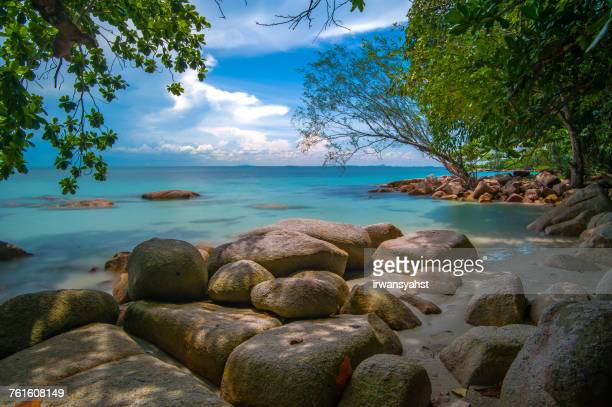 tropical beach, bintan island, tanjung pinang riau islands, indonesia - riau images stock pictures, royalty-free photos & images