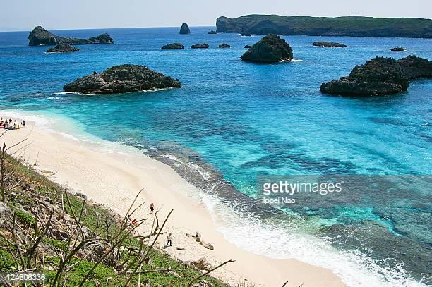 Tropical beach, clear blue sea, Ogasawara islands