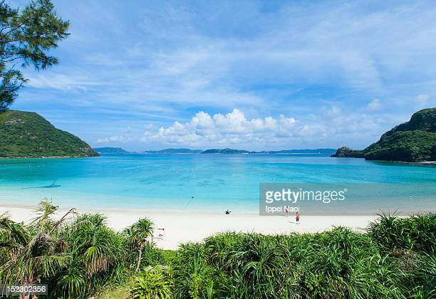 Tropical beach cove and clear blue sea, Okinawa