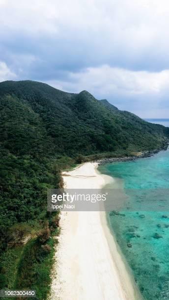 Tropical beach from above, Kume Island, Okinawa, Japan