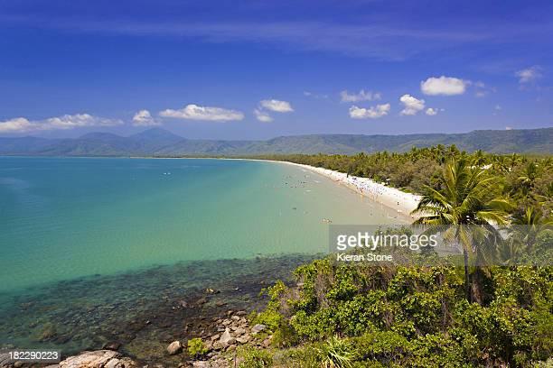 Tropical beach on a sunny day