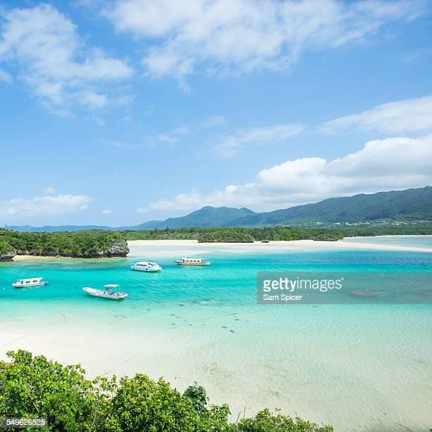 Tropical beach paradise lagoon of Okinawa