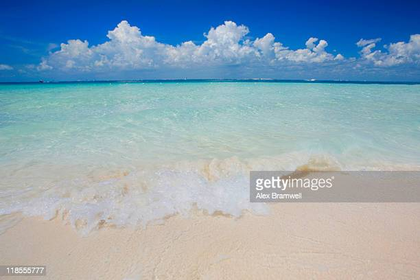 tropical beach - isla mujeres stock photos and pictures