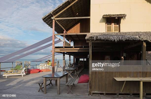Restaurante na praia Tropical Canoa Quebrada, Brasil