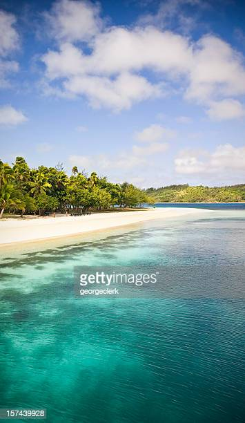 tropical beach sea and sky - western division fiji stock photos and pictures